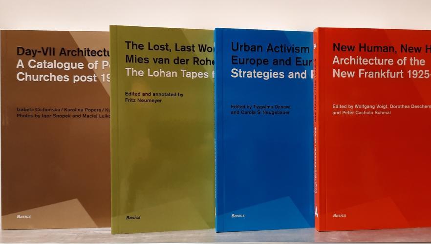 Книги DOM publishers: последние слова Ван дер Роэ, архитектура Нового Франкфурта, городской активизм в Восточной Европе, послевоенные польские церкви,