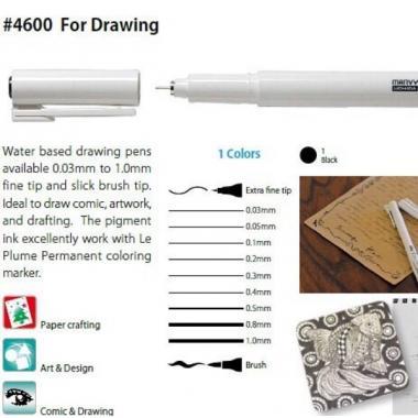 Линеры (капиллярные ручки) MARVY UCHIDA 4600 черные