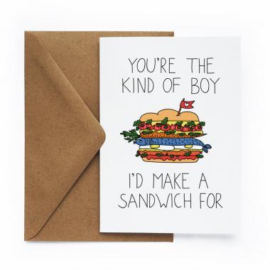 Открытка «Сэндвич»